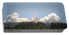 Portable Battery Charger featuring the photograph Sts-132, Space Shuttle Atlantis Launch by Science Source