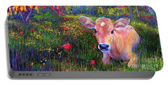 Such A Contented Cow Portable Battery Charger by Jane Small