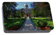 Summer On Notre Dame Campus Portable Battery Charger by Dan Sproul