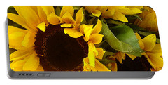 Sunflowers Portable Battery Charger by Amy Vangsgard