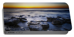 Sunrise At Cave Point Portable Battery Charger by Scott Norris