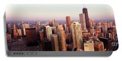 Sunrise On Chicago Portable Battery Charger by Jon Neidert