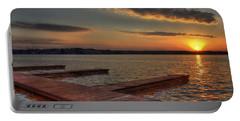 Sunset Docks On Lake Oconee Portable Battery Charger by Reid Callaway
