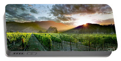 Wine Country Portable Battery Charger by Jon Neidert