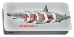 Sushi Mako Portable Battery Charger by Eric Fan