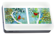 Sweet Memories Diptych Portable Battery Charger by Hailey E Herrera