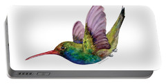 Swooping Broad Billed Hummingbird Portable Battery Charger by Amy Kirkpatrick
