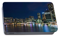 Sydney Cityscape By Night Portable Battery Charger by Kaye Menner