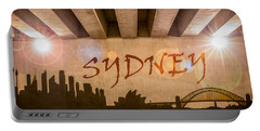 Sydney Graffiti Skyline Portable Battery Charger by Semmick Photo