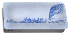 Sydney Skyline Blueprint Portable Battery Charger by Kaleidoscopik Photography