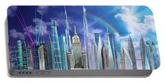 Tall Buildings Portable Battery Charger by Garry Walton