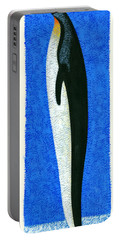 Tall Penguin Portable Battery Charger by Brian James