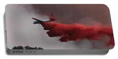 Portable Battery Charger featuring the photograph Tanker 07 Drops On The Myrtle Fire by Bill Gabbert