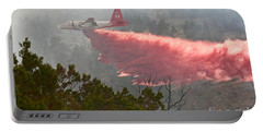 Portable Battery Charger featuring the photograph Tanker 07 On Whoopup Fire by Bill Gabbert