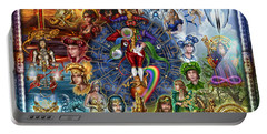 Tarot Of Dreams Portable Battery Charger by Ciro Marchetti