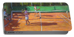 Tennis Practice Portable Battery Charger by Andrew Macara