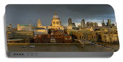 Thames With St Paul's Panorama Portable Battery Charger by Gary Eason