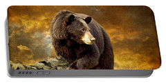 The Bear Went Over The Mountain Portable Battery Charger by Lois Bryan