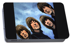 The Beatles Rubber Soul Portable Battery Charger by Paul Meijering