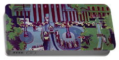 The Brandenburg Gate Berlin Portable Battery Charger by Ernst Ludwig Kirchner