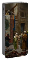 The Carpet Merchant Portable Battery Charger by Jean Leon Gerome