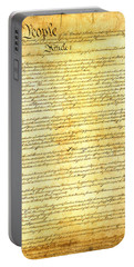 The Constitution Of The United States Of America Portable Battery Charger by Design Turnpike