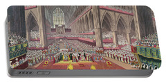 The Coronation Of King William Iv And Queen Adelaide, 1831 Colour Litho Portable Battery Charger by English School