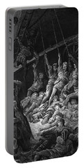 The Dead Sailors Rise Up And Start To Work The Ropes Of The Ship So That It Begins To Move Portable Battery Charger by Gustave Dore