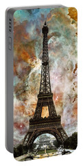 The Eiffel Tower - Paris France Art By Sharon Cummings Portable Battery Charger by Sharon Cummings