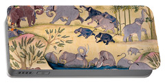 The Elephant Hunt Portable Battery Charger by Indian School
