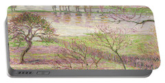 The Flood At Eragny Portable Battery Charger by Camille Pissarro