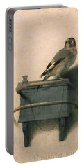 The Goldfinch Portable Battery Charger by Carel Fabritius