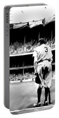 The Greatest Of All  Babe Ruth Portable Battery Charger by Iconic Images Art Gallery David Pucciarelli