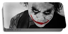 The Joker Portable Battery Charger by Robert Bateman