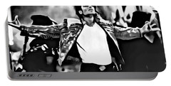 The King Of Pop Portable Battery Charger by Florian Rodarte