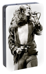 The Lion  Robert Plant Portable Battery Charger by Iconic Images Art Gallery David Pucciarelli