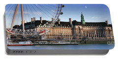 The London Eye And County Hall Portable Battery Charger by Rod McLean