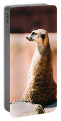 The Lonely Meerkat Portable Battery Charger by Pati Photography