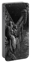 The Mariner Gazes On The Serpents In The Ocean Portable Battery Charger by Gustave Dore