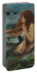 The Mermaid Portable Battery Charger by John William Waterhouse