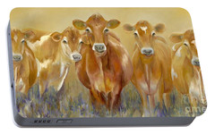 The Morning Moo Portable Battery Charger by Catherine Davis