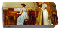 The Music Room Portable Battery Charger by George Goodwin Kilburne