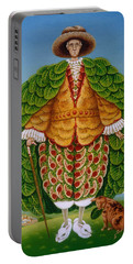 The New Vestments Ivor Cutler As Character In Edward Lear Poem, 1994 Oils And Tempera On Panel Portable Battery Charger by Frances Broomfield
