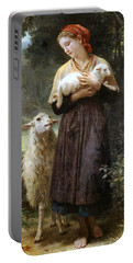 The Newborn Lamb Portable Battery Charger by William Bouguereau