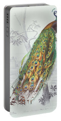 The Peacock Portable Battery Charger by A Fournier