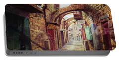 The Road To The Cross  Jerusalem Portable Battery Charger by Graham Braddock