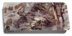 The Russians Fighting Their Way Over The Carpathians Portable Battery Charger by Cyrus Cuneo