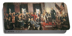 The Signing Of The Constitution Of The United States In 1787 Portable Battery Charger by Howard Chandler Christy