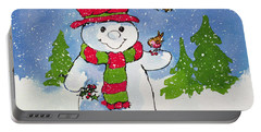 The Snowman Portable Battery Charger by Diane Matthes