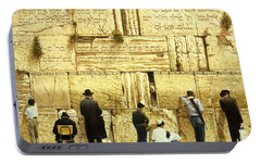 The Western Wall  Jerusalem Portable Battery Charger by Graham Braddock